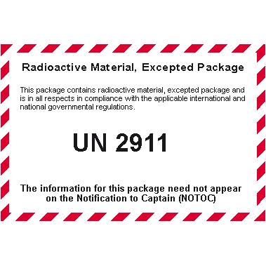 Dangerous Goods Database - Radioactive Materials - Radioactive ...